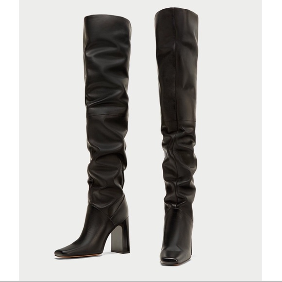 Zara Shoes - Black over the knee thigh high ZARA boots